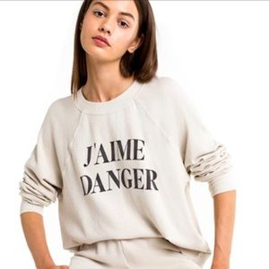 Wildfox J'aime Danger Sweater